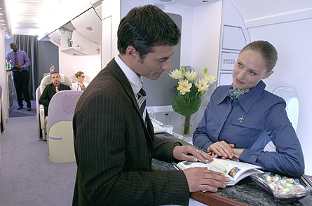 A380 Business First concierge