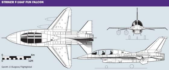 F-16A general arrangement