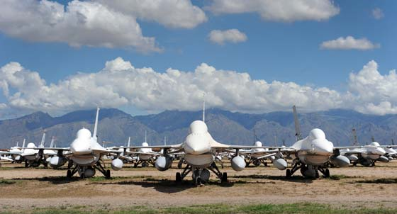 Retired F-16s to choose from